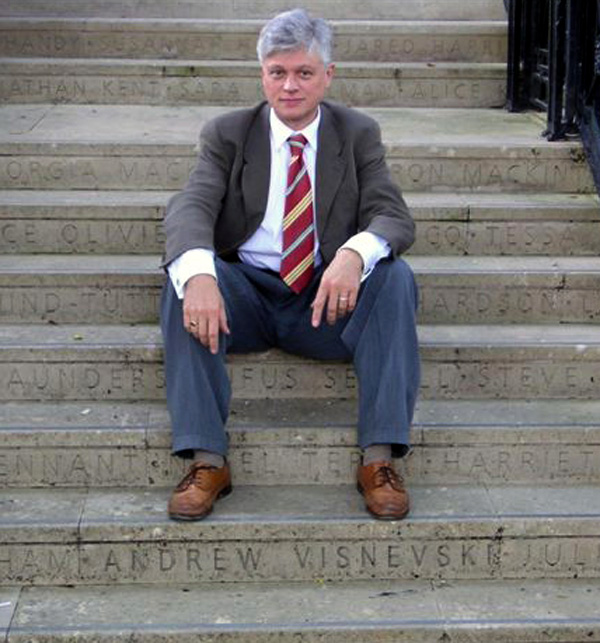 Photo of Andrew on Embassy Theatre steps